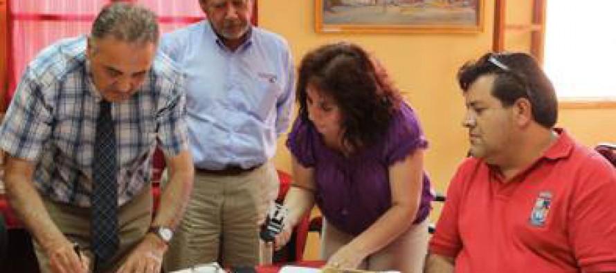 Alcalde Torres firma convenio de asesoría con La Araucana e Inmobiliaria Prohogar