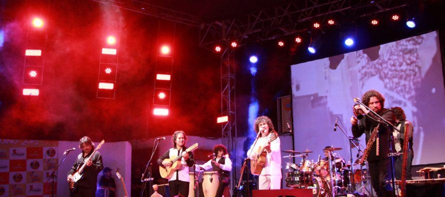 Illapu convocó a más de 6 mil personas en show del Carnaval Elquino de Vicuña