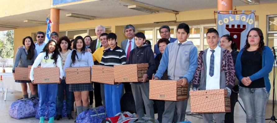 Estudiantes de escuelas municipalizadas de Vicuña inician su año escolar 2015