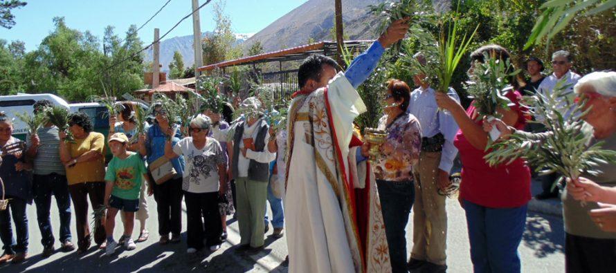 Con misa de domingo de ramos Paihuano inicia actividades de Semana Santa