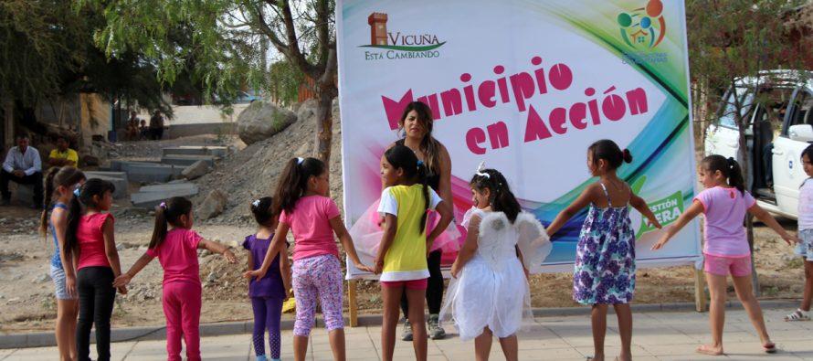 Decenas de niños llegaron a disfrutar de los juegos de verano en la localidad de Calingasta