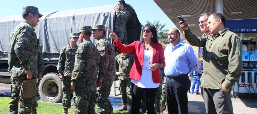 Gobierno Regional y ONEMI coordinan primera entrega de ayuda a Vicuña