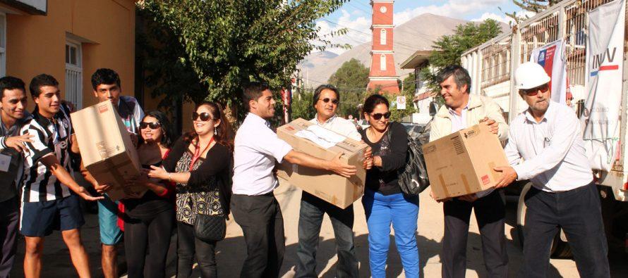Municipio de Vicuña ha sido el centro de acopio para ir en ayuda de los damnificados