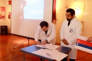Moritz Reimberg firma como nuevo Director del hospital de Vicuna
