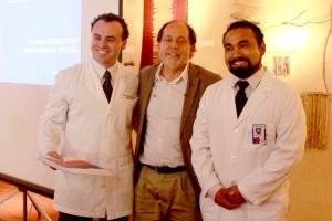 Moritz Reimberg, nuevo director del Hospital de Vicuna, Ernesto Jorquera, Director Servicio de Salud Coquimbo y Jorge Espinoza, saliente director del hospital.