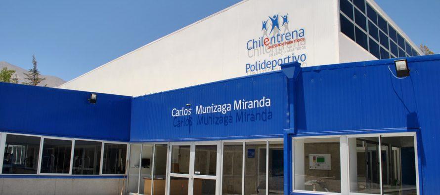Firman convenio para comenzar a utilizar el Polideportivo Carlos Munizaga Miranda de Vicuña
