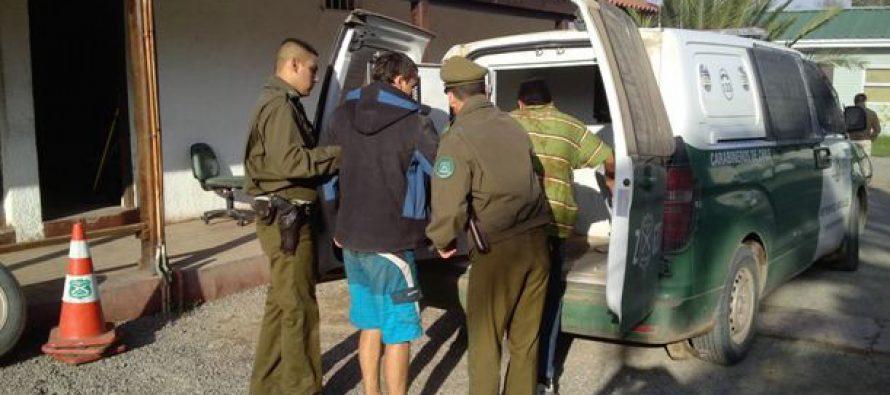 Detenidos por violencia intrafamiliar, amenaza de muerte y robo se registraron en Vicuña