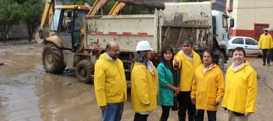 Realizan evaluación de daños en Vicuña y Valle de Elqui tras intensas precipitaciones