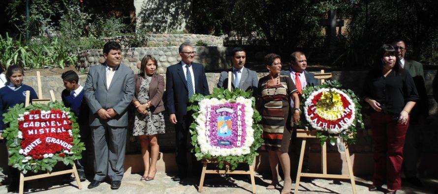 Paihuano recordó los 126 años del natalicio de Gabriela Mistral