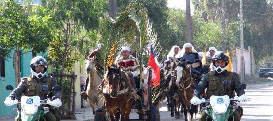 Carabineros colaboró durante celebración de fiesta de cuasimodo en Vicuña