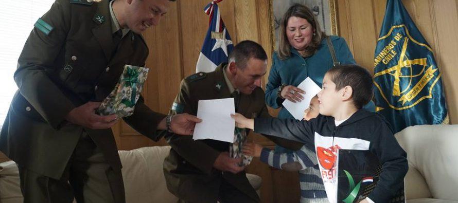 Carabinero salvó a niño de morir por asfixia en Almirante Latorre durante Fiesta Costumbrista