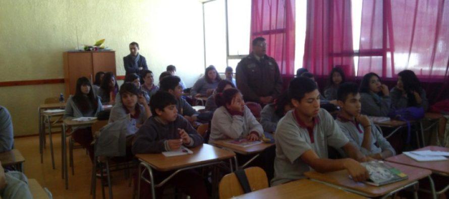Charla para prevenir consumo de drogas realizó Carabineros en Vicuña