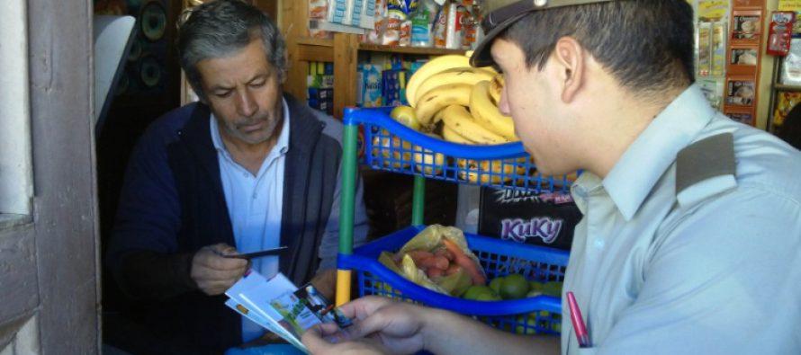 """Carabineros incentivan el trabajo de campaña """"Casa Segura"""" para evitar robos"""