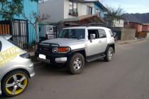 En Vicuña Carabineros recupera Toyota Cruiser robada en Peralillo
