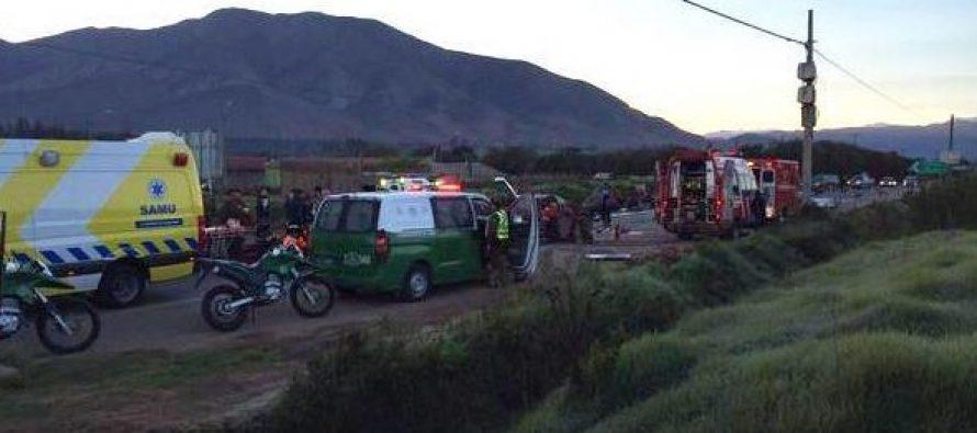 Gabriela Mistral: Tres muertos deja un accidente en la Ruta 41 en el Valle del Elqui