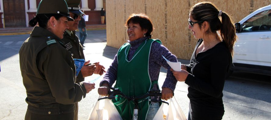 Incentivan el uso de la bicicleta con campaña preventiva y seguridad en Vicuña
