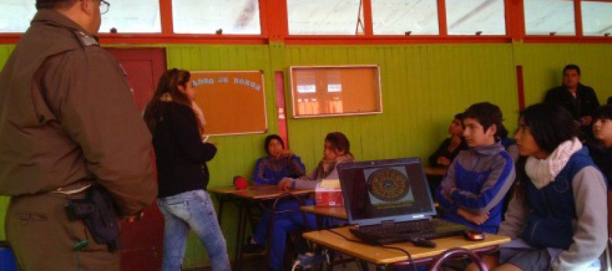 Niños de Rivadavia recibieron charla sobre drogas
