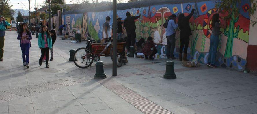 Con un mural como legado se realizó con éxito el Boulevard Cultural Mistraliano en Vicuña