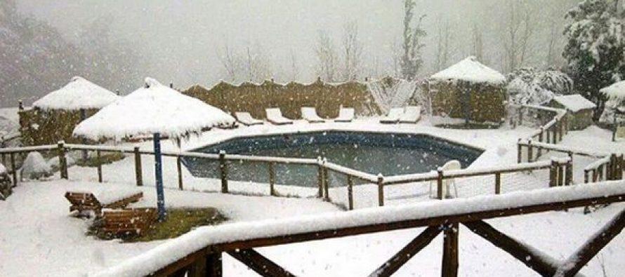La nieve llegó nuevamente al Valle del Elqui