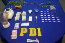 Capturan a 3 mujeres y un menor de edad en Vicuña con drogas y munición