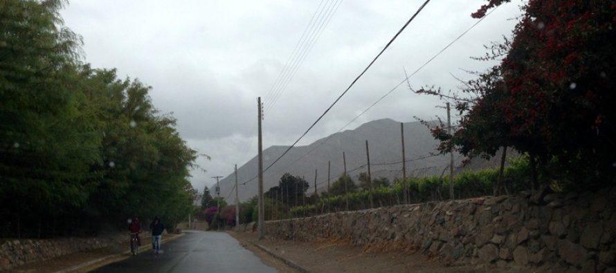 Se esperan 15 mm de precipitaciones para este fin de semana en el Valle del Elqui