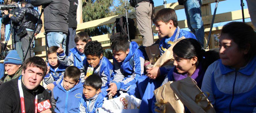 Estudiantes de Rivadavia compartieron con selección paraguaya