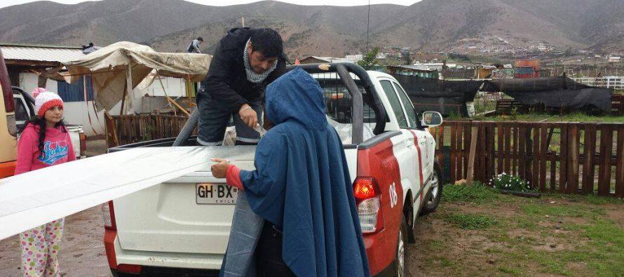 Más de mil personas afectadas por temporal en sector rural de La Serena