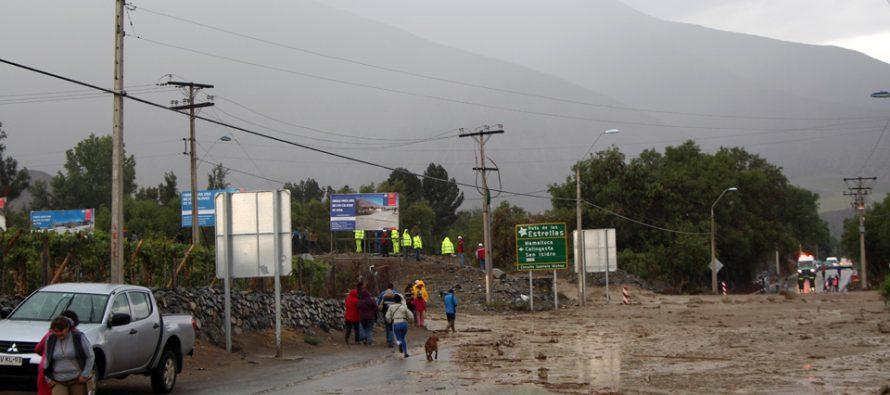 Municipalidad de Vicuña implementa acciones preventivas ante las lluvias de esta semana