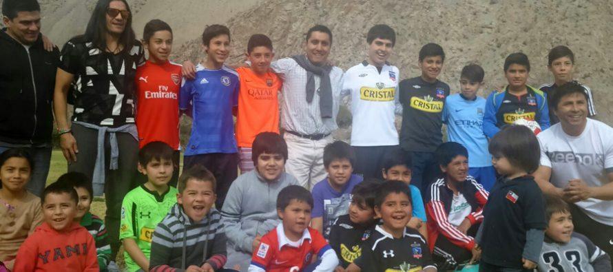 Paihuaninos compartieron experiencias con ex seleccionados nacionales de fútbol