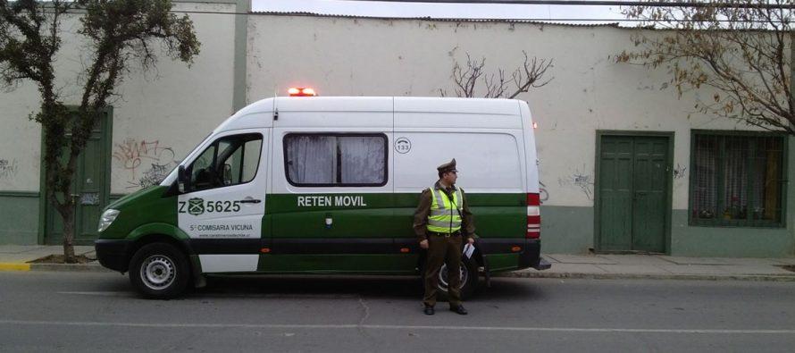 Detenido por herido con arma hechiza en Vicuña