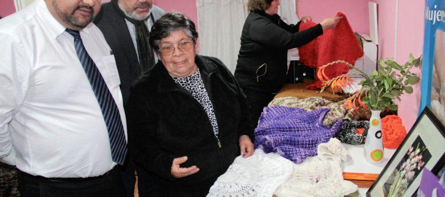 Emprendedoras de Las Rojas presentan trabajo textil al CORE realizado gracias a fondos concursables