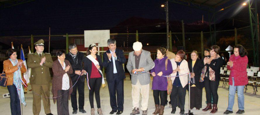 Más de 32 millones de pesos se invierten en la multicancha de la Población Joaquín Vicuña