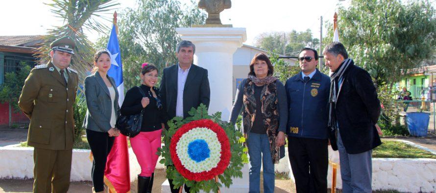 Vicuña suma un nuevo homenaje a Bernardo O'Higgins en población que lleva su nombre