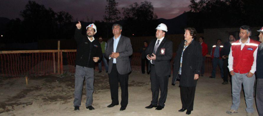 Avanza la construcción del nuevo cuartel de la PDI en Vicuña