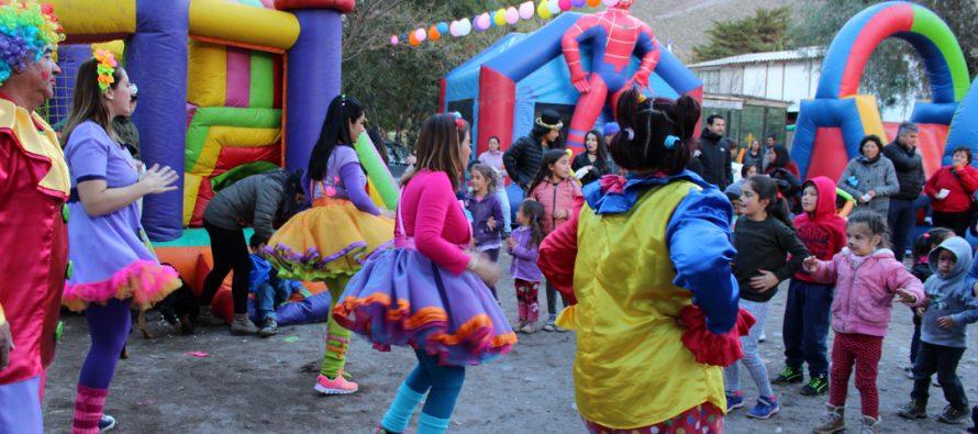 Con éxito se celebró el Día del Niño en las distintas localidades rurales de Vicuña
