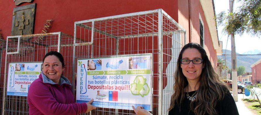 Comienza campaña de recolección de botellas plásticas y basura tecnológica en Vicuña