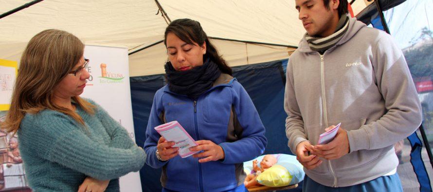 En Vicuña cierran la semana de la lactancia con stand informativo
