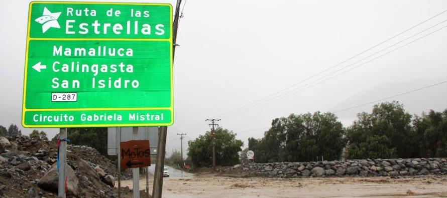 Los aislamientos por la bajada de quebradas son el principal problema en Vicuña con las lluvias