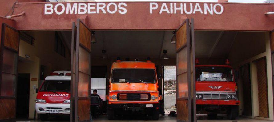 Nuevo aniversario celebrará el Cuerpo de Bomberos de Paihuano
