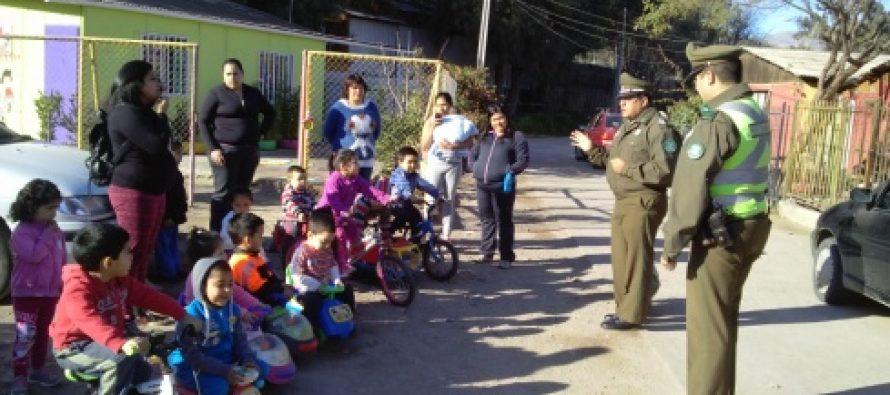 En Vicuña Carabineros realizó charla de tránsito