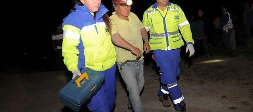 Un minero fallecido y otro herido tras caer en pique en Quebrada de Talca