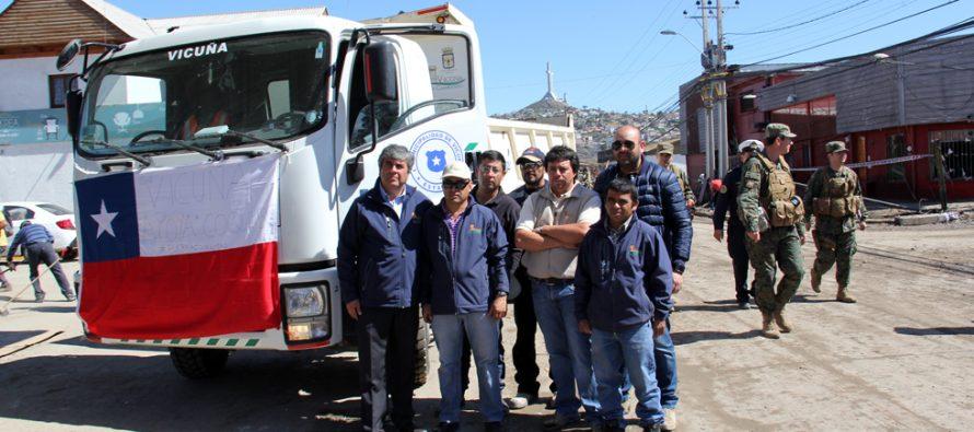 Vicuña entrega apoyo a las zonas afectadas por el terremoto