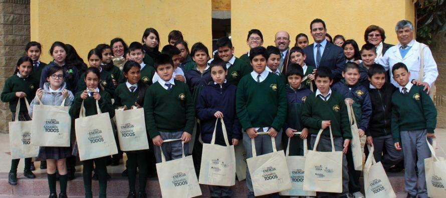 Alumnos de la escuela Lucila Godoy Alcayaga de Vicuña aprenden a cuidar la energía