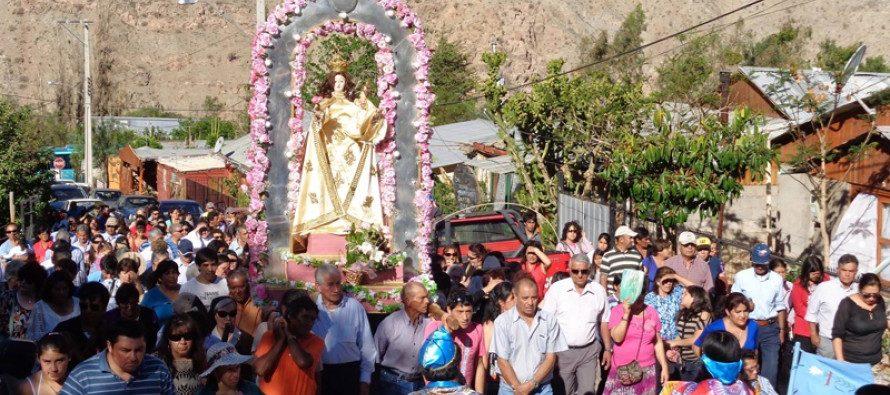 Pisco Elqui se prepara para celebrar fiesta patronal de Nuestra Señora del Rosario