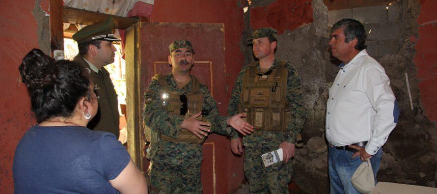 General Nazal visita el Valle del Elqui para ver en terreno viviendas afectadas por el terremoto
