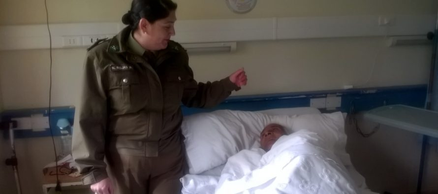 Carabineros rescató a abuelito vicuñense que vive en extrema pobreza