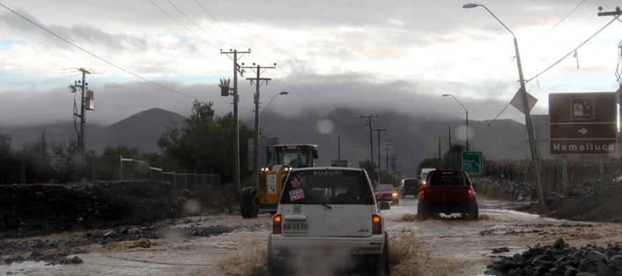 Un núcleo frío en altura deja  precipitaciones en la zona las que alcanzarían los 15 mm en el Elqui