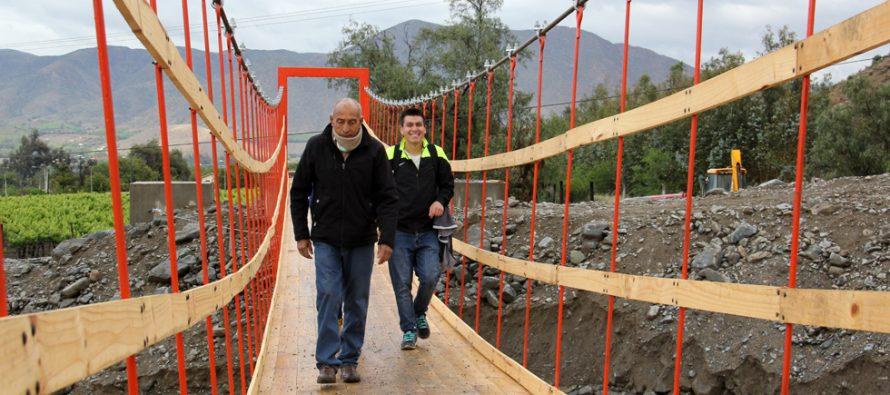 Invierten más de 59 millones de pesos en puente peatonal para vecinos de San Isidro y Calingasta