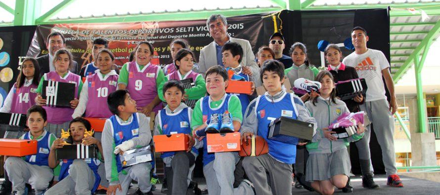 Incentivan la práctica del básquetbol en Peralillo con entrega  de indumentaria deportiva