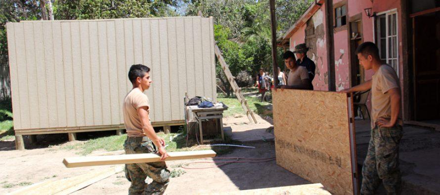 Evalúan positivamente construcción de viviendas de emergencia en Vicuña